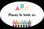 Enseignement préscolaire Étiquettes carrées - gabarit prédéfini. <br/>Utilisez notre logiciel Avery Design & Print Online pour personnaliser facilement la conception.
