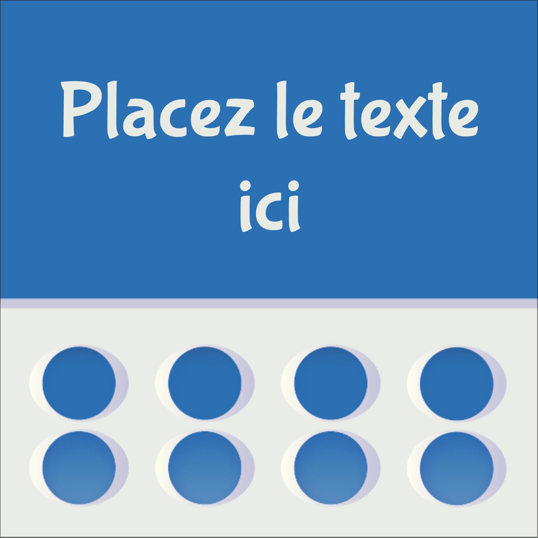 """2"""" x 2"""" Étiquettes carrées - 4e étage"""