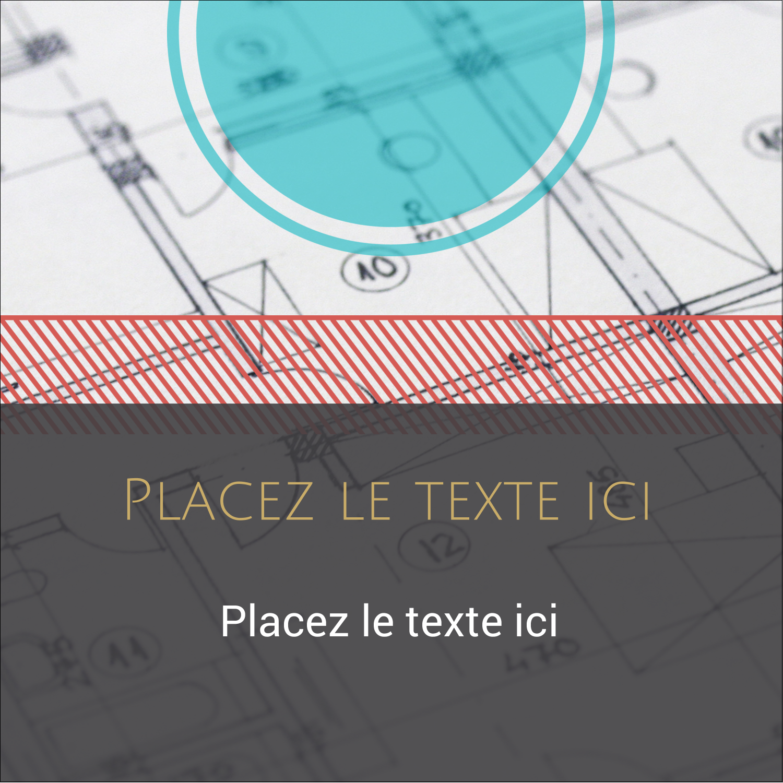 """1½"""" x 1½"""" Étiquettes carrées - Architecture"""