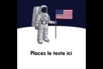 Astronaute Étiquettes carrées - gabarit prédéfini. <br/>Utilisez notre logiciel Avery Design & Print Online pour personnaliser facilement la conception.