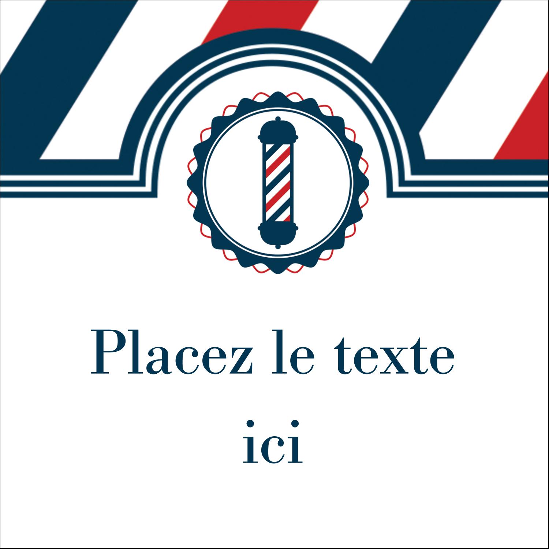 """1½"""" x 1½"""" Étiquettes carrées - Enseigne de barbier audacieuse"""