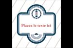 Enseigne de barbier Étiquettes carrées - gabarit prédéfini. <br/>Utilisez notre logiciel Avery Design & Print Online pour personnaliser facilement la conception.