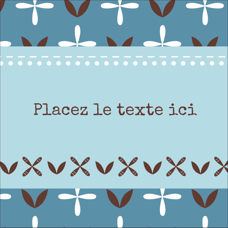 """1½"""" x 1½"""" Étiquettes carrées - Bain bleu"""