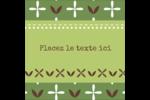 Fleurs vertes géométriques Étiquettes carrées - gabarit prédéfini. <br/>Utilisez notre logiciel Avery Design & Print Online pour personnaliser facilement la conception.
