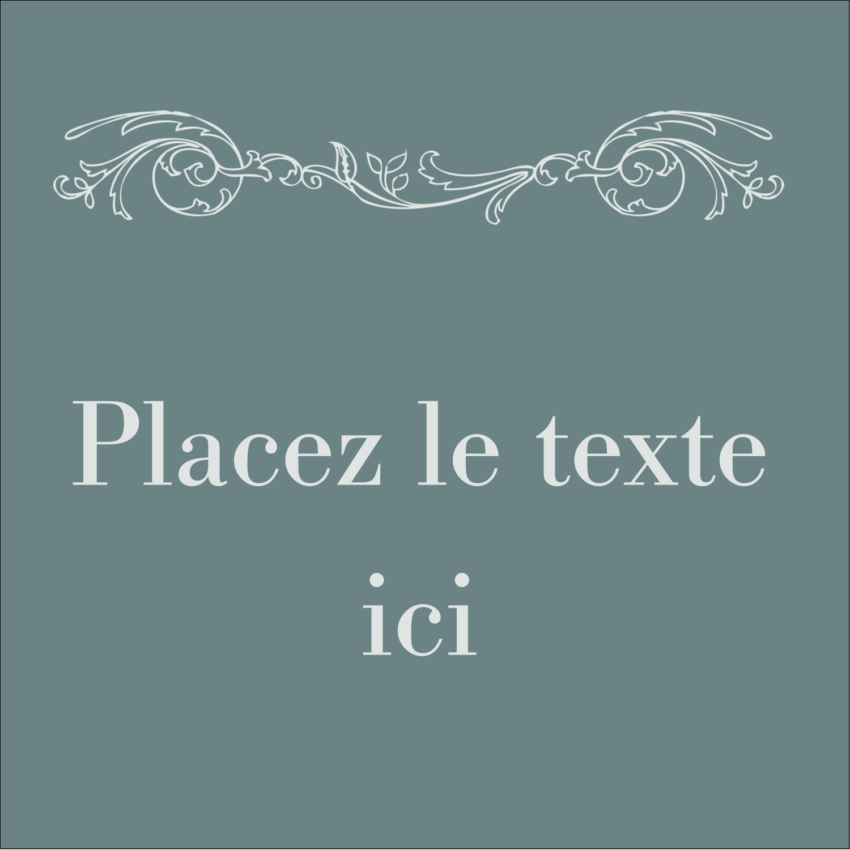 """2"""" x 2"""" Étiquettes carrées - Cachet français"""
