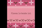 Fleurs roses géométriques Étiquettes carrées - gabarit prédéfini. <br/>Utilisez notre logiciel Avery Design & Print Online pour personnaliser facilement la conception.