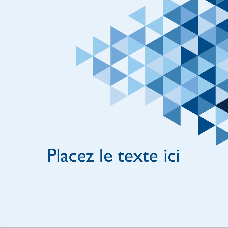 """2"""" x 2"""" Étiquettes carrées - Angles bleus"""