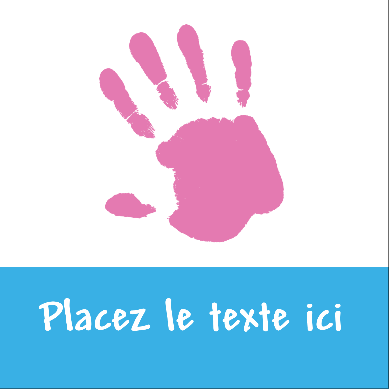 """2"""" x 2"""" Étiquettes carrées - Mains enfantines"""