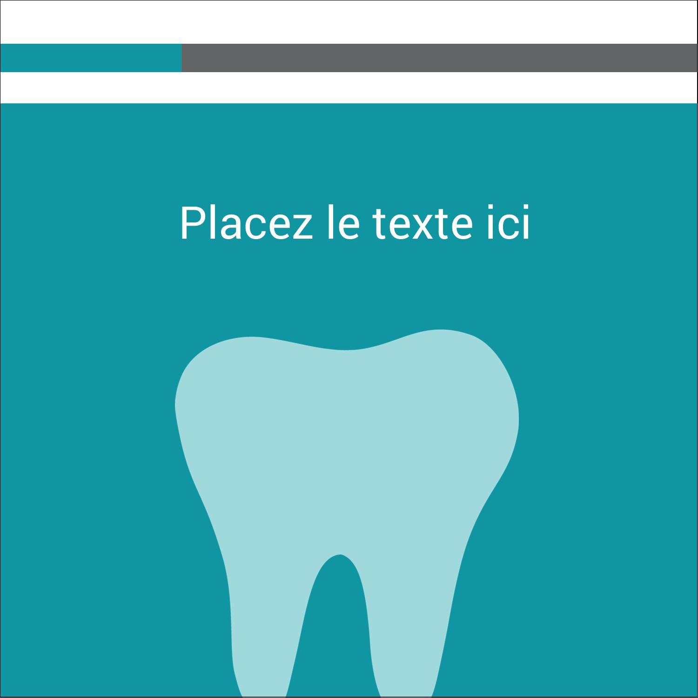 """1½"""" x 1½"""" Étiquettes carrées - Dent"""