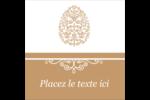Œuf de Pâques de couleur bronze Étiquettes carrées - gabarit prédéfini. <br/>Utilisez notre logiciel Avery Design & Print Online pour personnaliser facilement la conception.