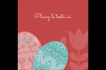Tartan de Pâques Étiquettes carrées - gabarit prédéfini. <br/>Utilisez notre logiciel Avery Design & Print Online pour personnaliser facilement la conception.