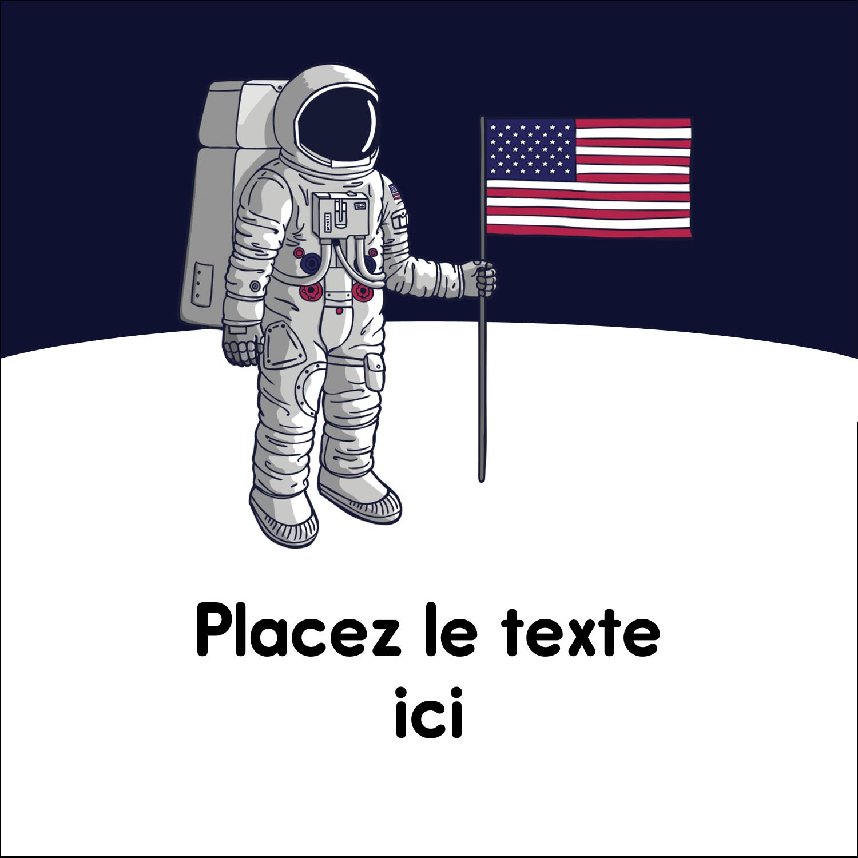 """2"""" Diameter Étiquettes rondes - Astronaute"""