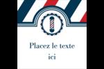 Enseigne de barbier audacieuse Étiquettes carrées - gabarit prédéfini. <br/>Utilisez notre logiciel Avery Design & Print Online pour personnaliser facilement la conception.