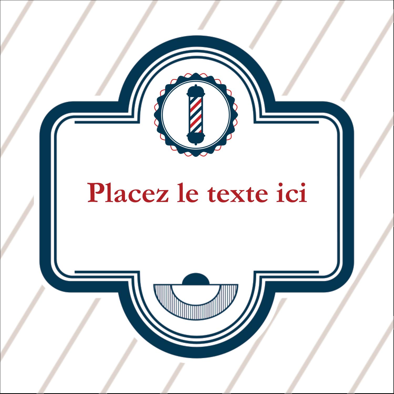 """2"""" Diameter Étiquettes rondes - Enseigne de barbier"""
