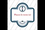 Enseigne de barbier Étiquettes rondes - gabarit prédéfini. <br/>Utilisez notre logiciel Avery Design & Print Online pour personnaliser facilement la conception.