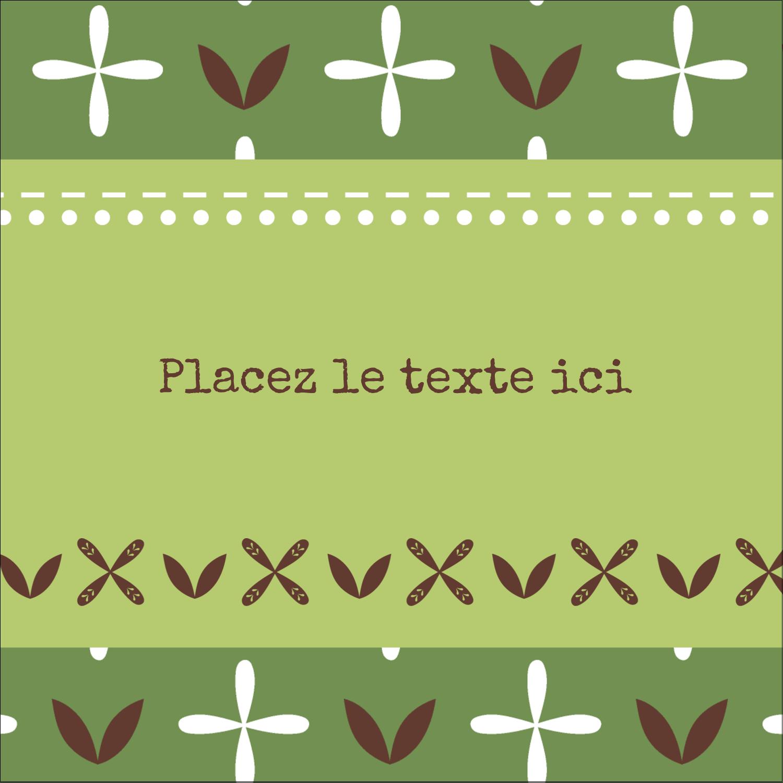 """2"""" Diameter Étiquettes rondes - Fleurs vertes géométriques"""