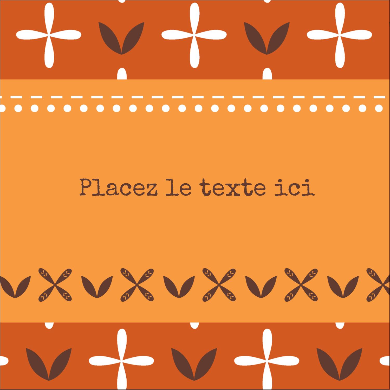 """2"""" Diameter Étiquettes rondes - Fleurs orange géométriques"""