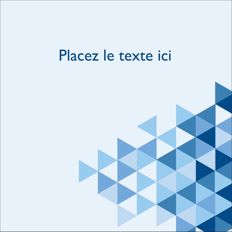 """2"""" Diameter Étiquettes rondes - Angles bleus"""