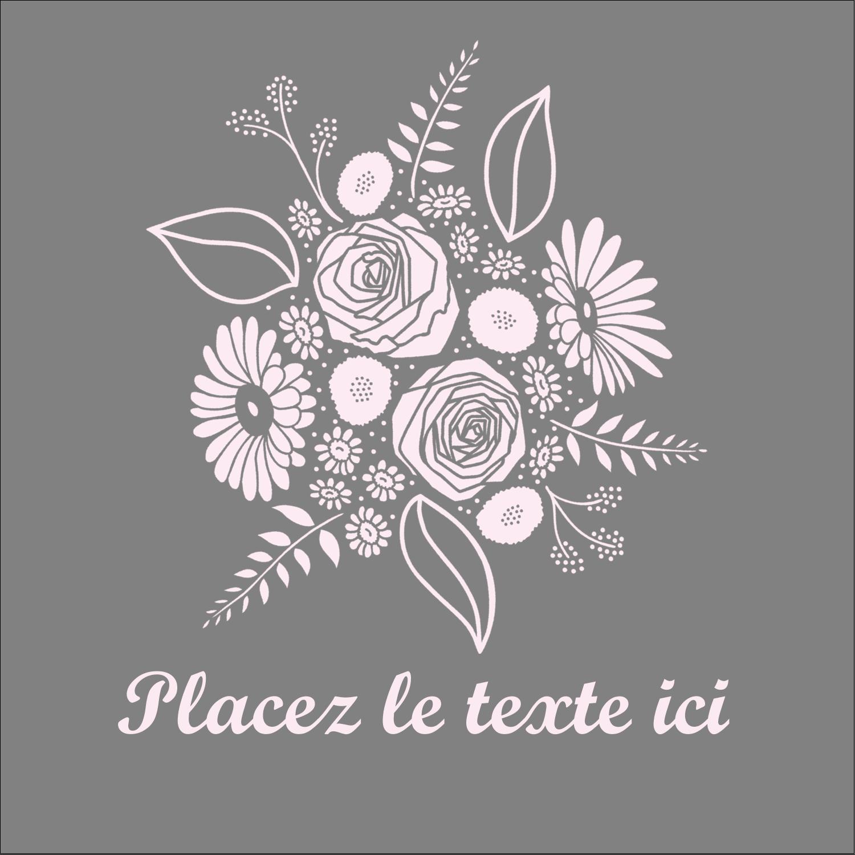 """2"""" Diameter Étiquettes rondes - Bouquet de fleurs"""