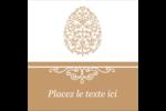 Œuf de Pâques de couleur bronze Étiquettes rondes - gabarit prédéfini. <br/>Utilisez notre logiciel Avery Design & Print Online pour personnaliser facilement la conception.