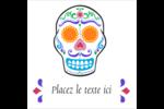 Le jour du Crâne Étiquettes enveloppantes - gabarit prédéfini. <br/>Utilisez notre logiciel Avery Design & Print Online pour personnaliser facilement la conception.