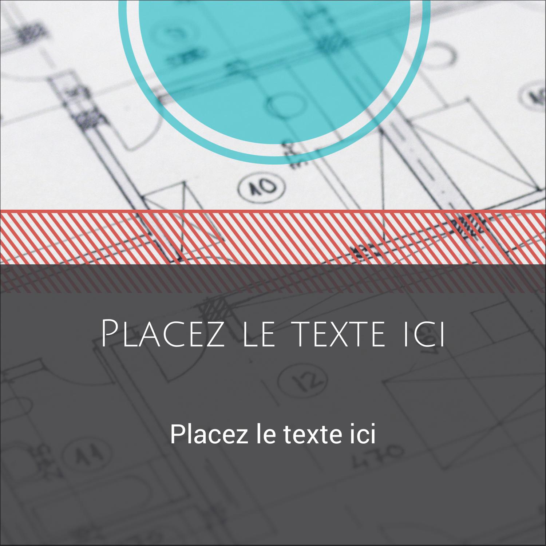 """9¾"""" x 1¼"""" Étiquettes enveloppantes - Architecture"""