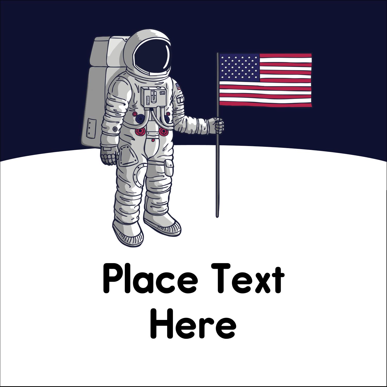 "2"" x 2"" Sqaure Label - Astronaut"
