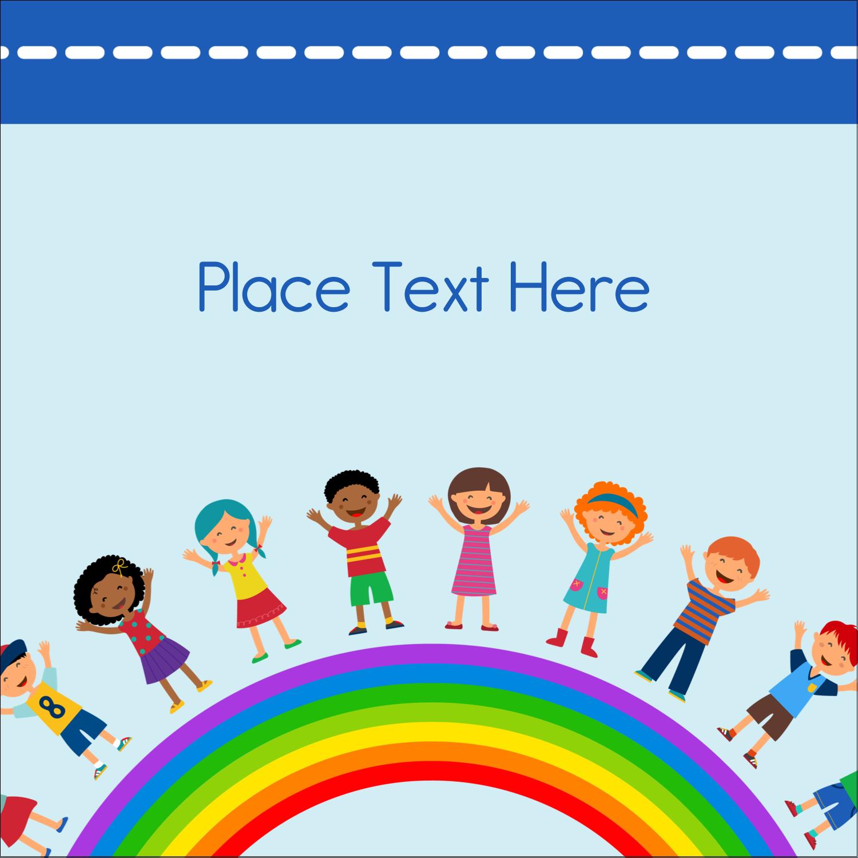 "2"" x 2"" Square Label - Childcare Education"