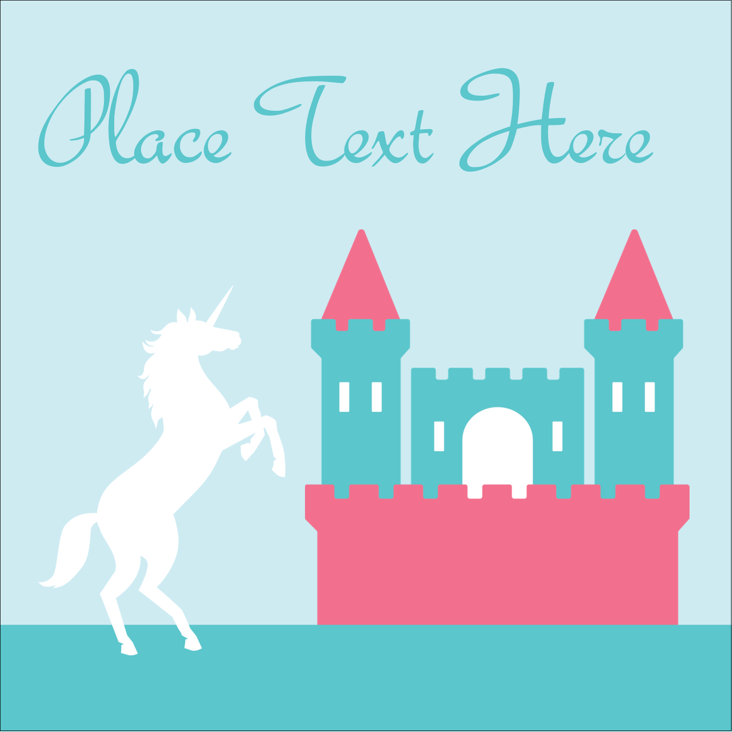 "2"" x 2"" Square Label - Castle"
