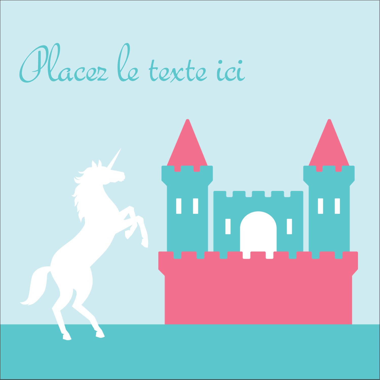 """9¾"""" x 1¼"""" Étiquettes enveloppantes - Château"""