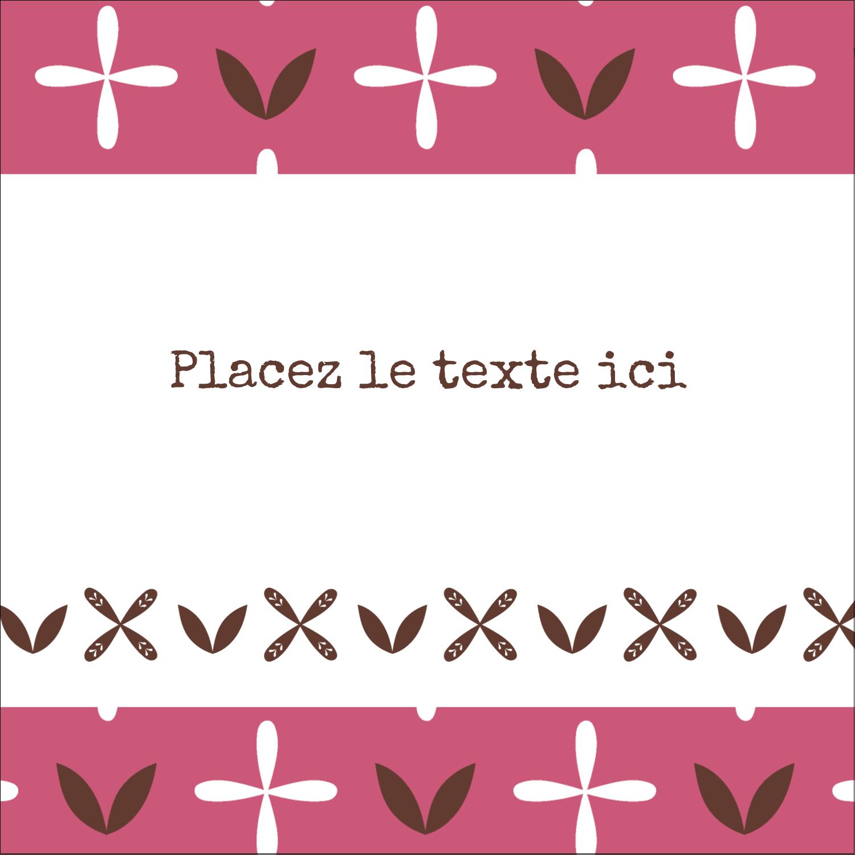 """9¾"""" x 1¼"""" Étiquettes enveloppantes - Fleurs roses géométriques"""