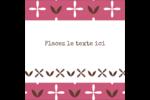 Fleurs roses géométriques Étiquettes enveloppantes - gabarit prédéfini. <br/>Utilisez notre logiciel Avery Design & Print Online pour personnaliser facilement la conception.