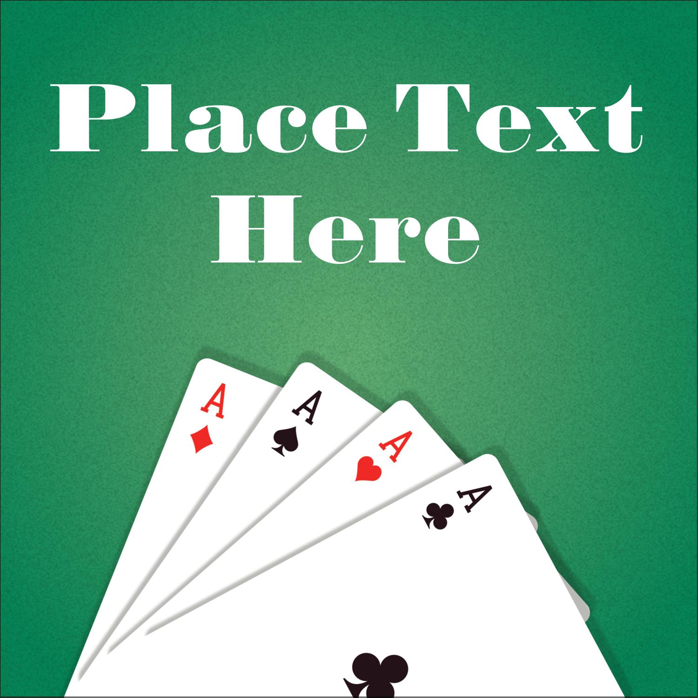 "2"" x 2"" Square Label - Poker Game"