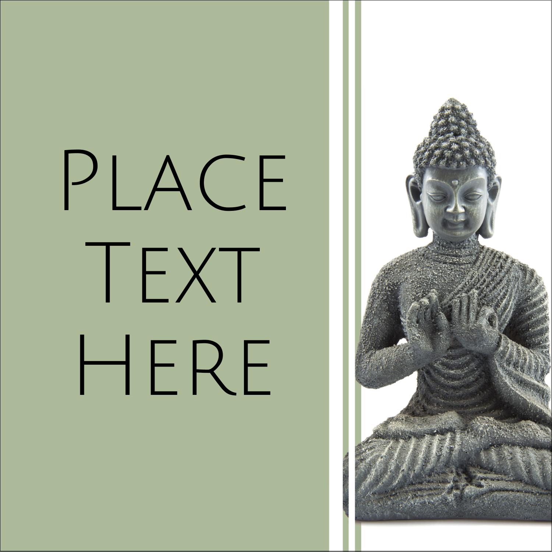 "2"" x 2"" Square Label - Buddha"