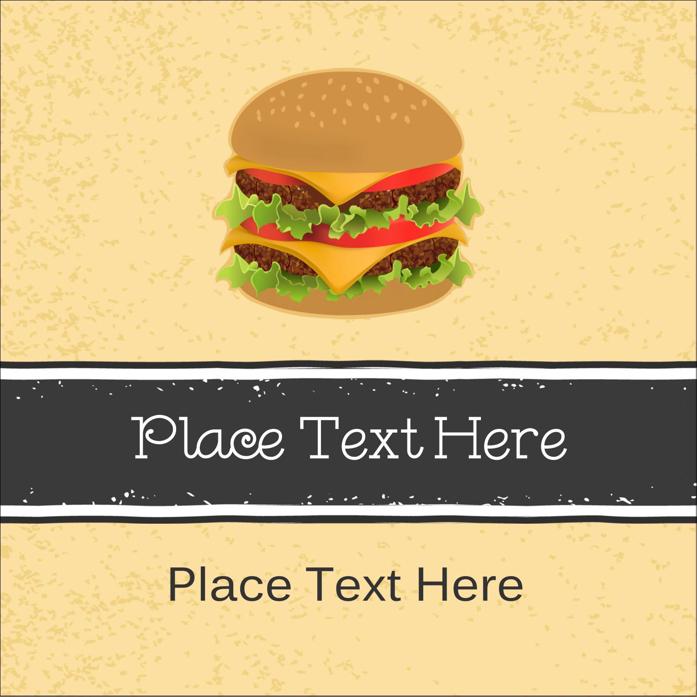 """2"""" x 2"""" Square Label - Burger"""