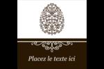 Œuf de Pâques de couleur bronze Étiquettes enveloppantes - gabarit prédéfini. <br/>Utilisez notre logiciel Avery Design & Print Online pour personnaliser facilement la conception.