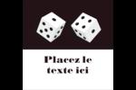 Partie de poker Étiquettes enveloppantes - gabarit prédéfini. <br/>Utilisez notre logiciel Avery Design & Print Online pour personnaliser facilement la conception.