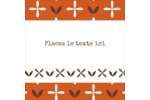 Fleurs orange géométriques Étiquettes enveloppantes - gabarit prédéfini. <br/>Utilisez notre logiciel Avery Design & Print Online pour personnaliser facilement la conception.