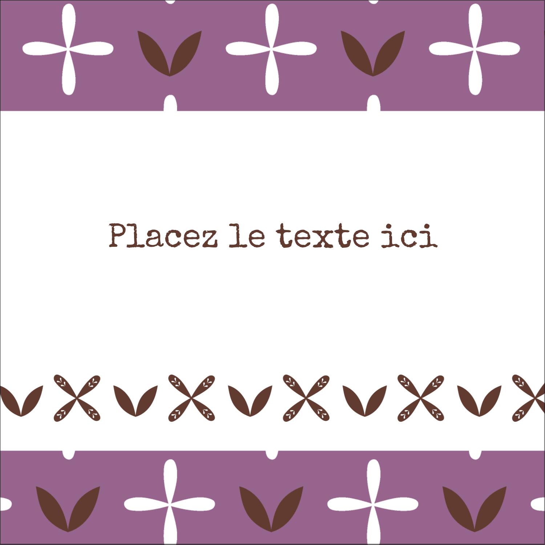 """9¾"""" x 1¼"""" Étiquettes enveloppantes - Lavande géométrique"""