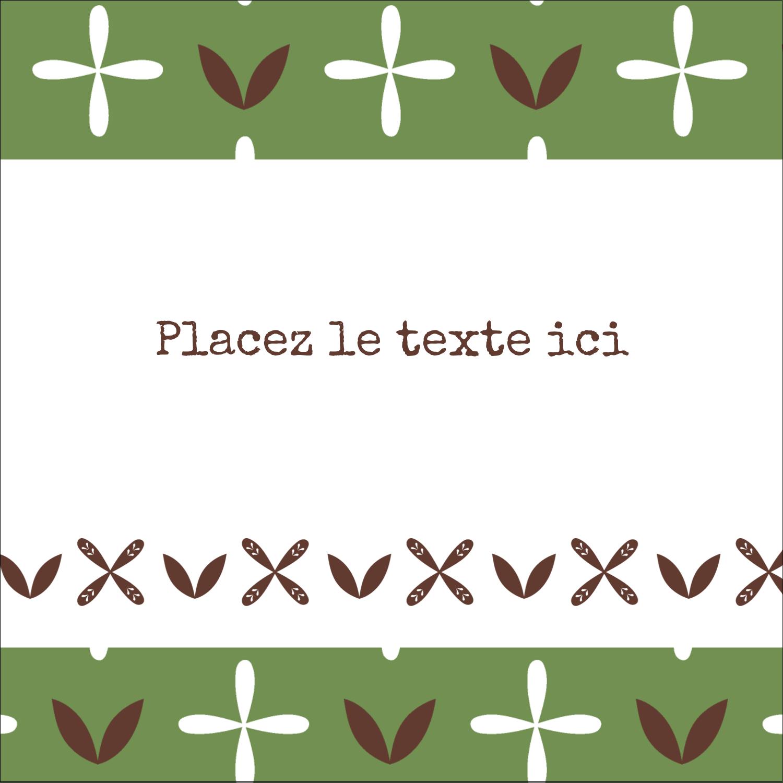 """9¾"""" x 1¼"""" Étiquettes enveloppantes - Fleurs vertes géométriques"""