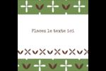 Fleurs vertes géométriques Étiquettes enveloppantes - gabarit prédéfini. <br/>Utilisez notre logiciel Avery Design & Print Online pour personnaliser facilement la conception.