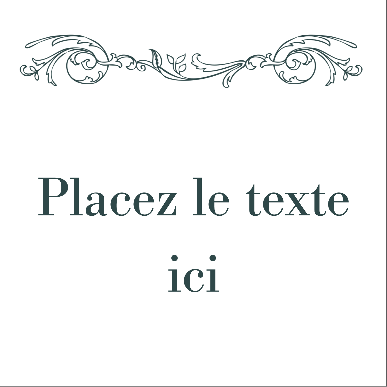 """9¾"""" x 1¼"""" Étiquettes enveloppantes - Cachet français"""