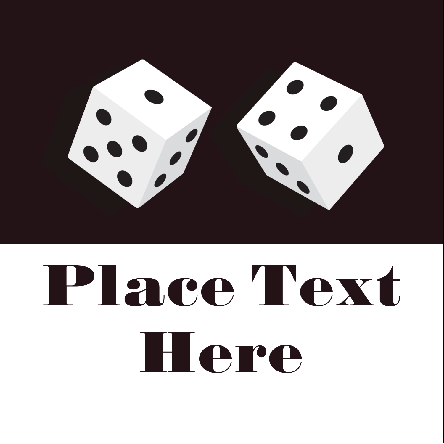 "2"" x 2"" Sqaure Label - Poker Game"