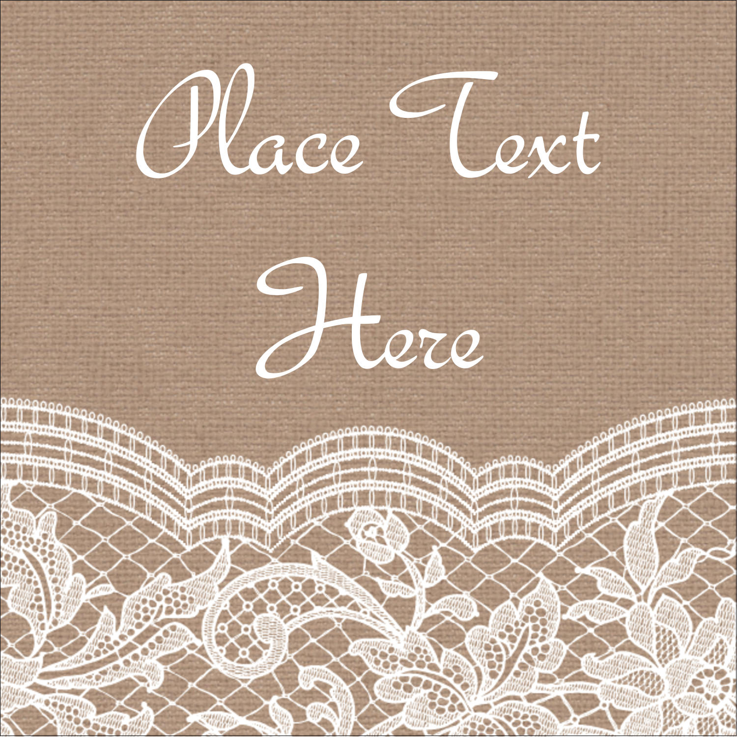 "2"" x 2"" Sqaure Label - Burlap Lace"
