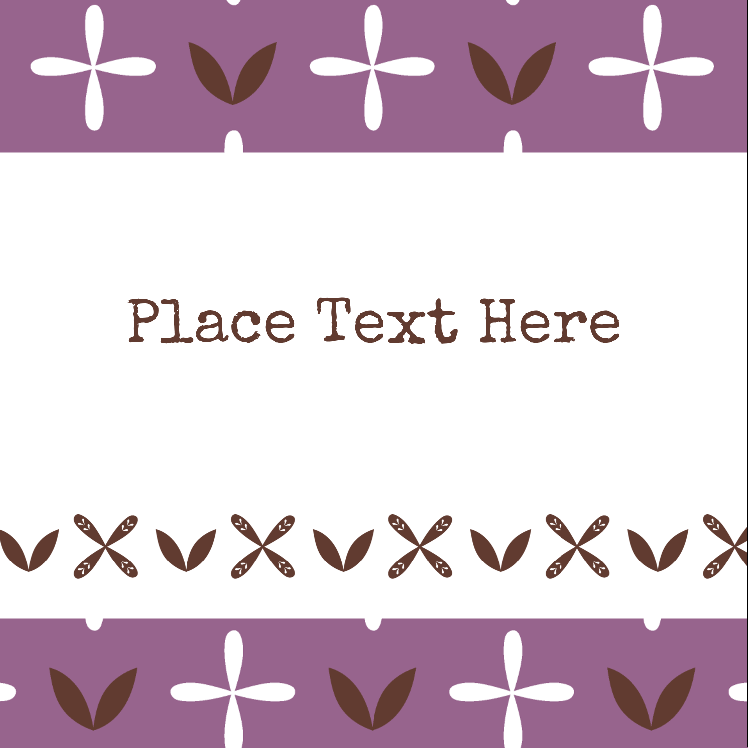 "2"" x 2"" Sqaure Label - Geometric Lavender Blossoms"