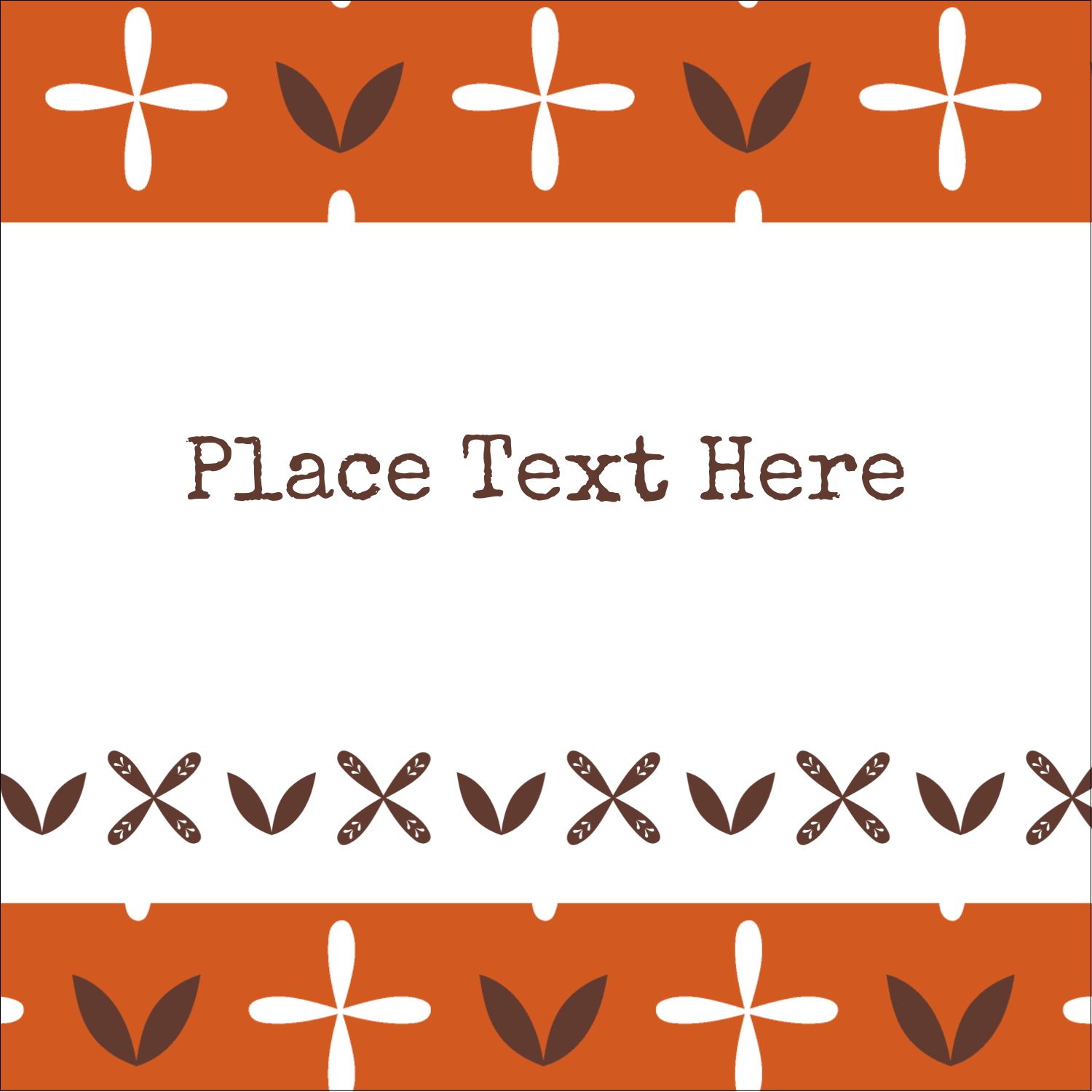 "2"" x 2"" Sqaure Label - Geometric Orange Blossoms"