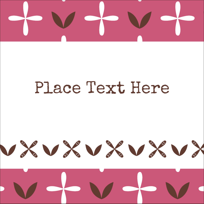 "2"" x 2"" Sqaure Label - Geometric Pink Blossoms"