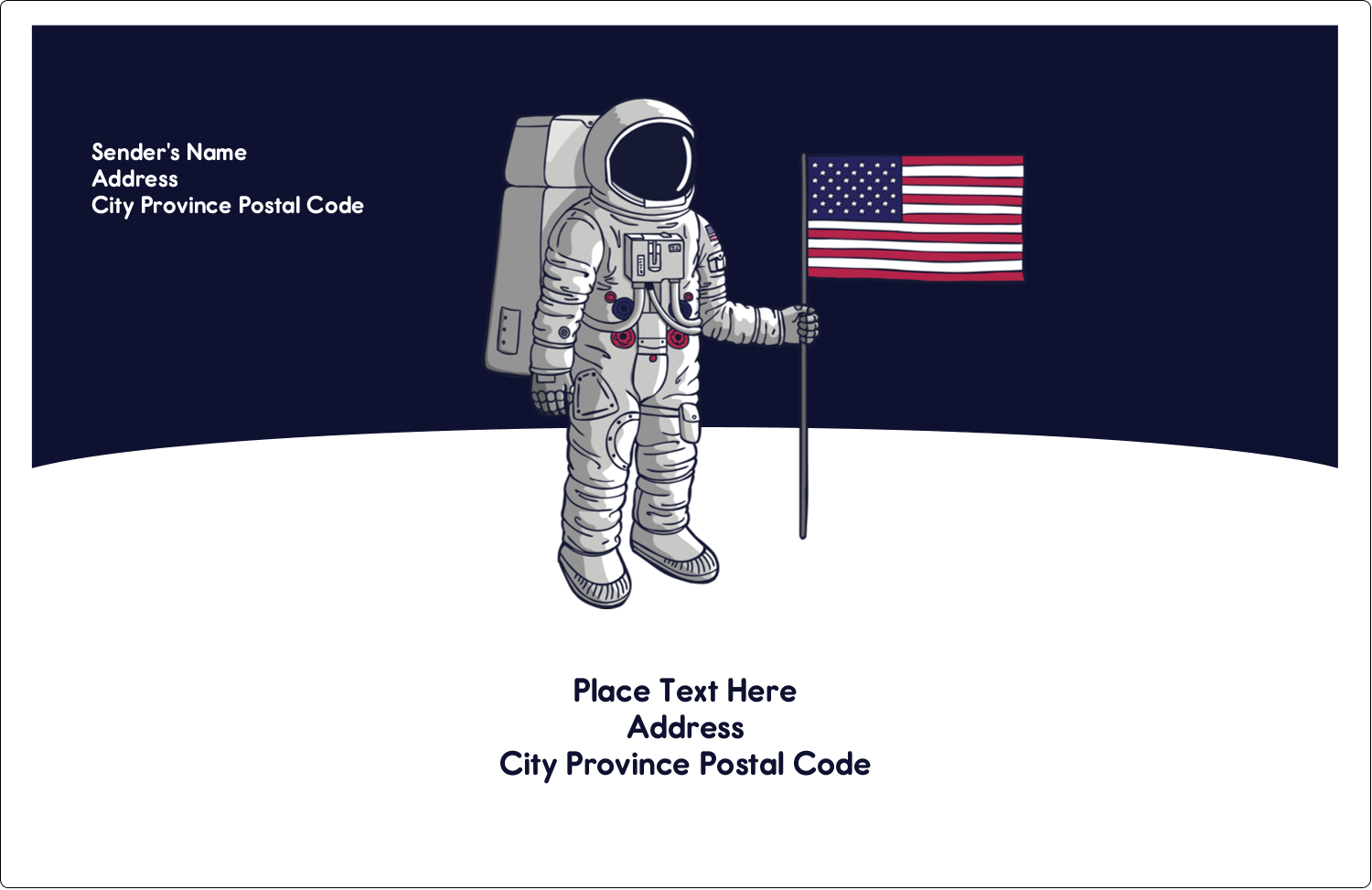"5½"" x 8½"" Shipping Label - Astronaut"