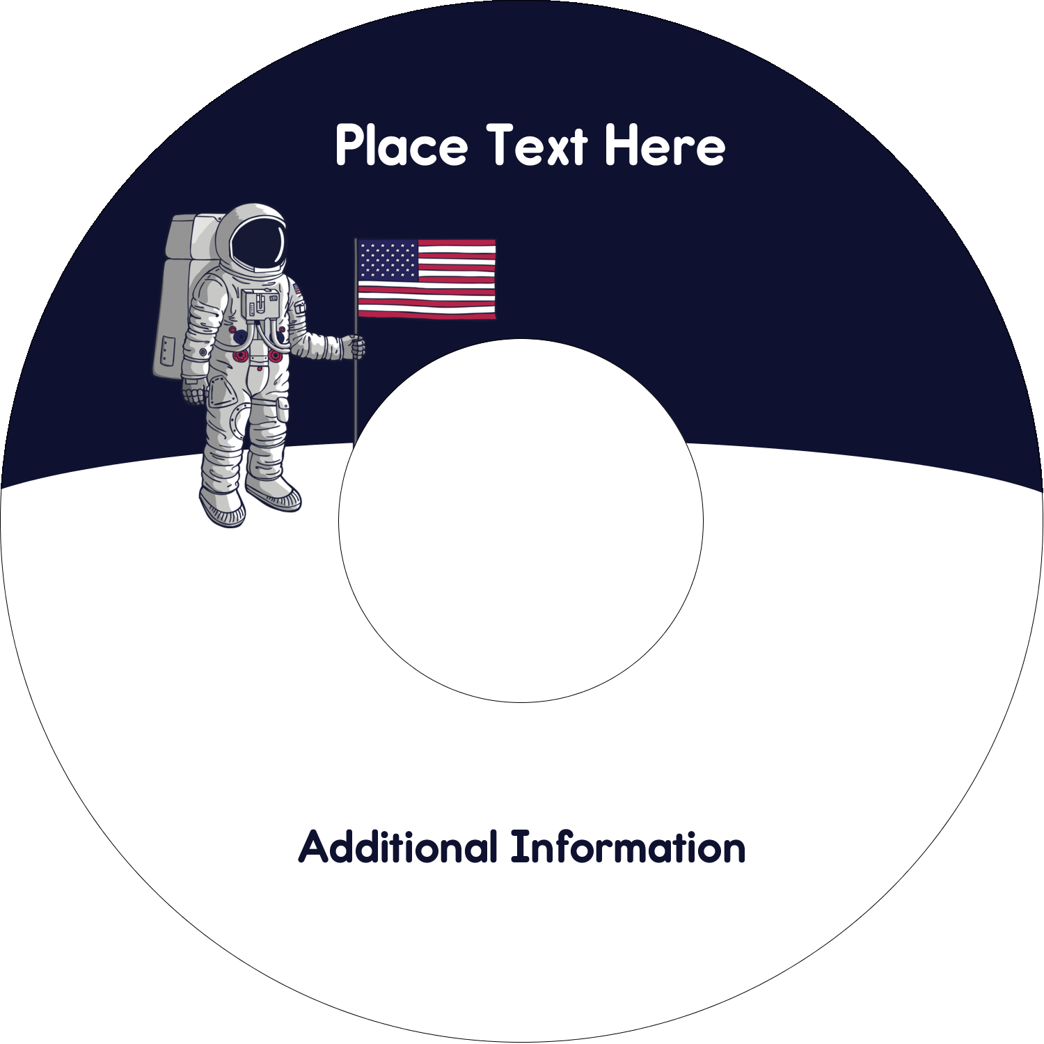 "4.65"" CD-DVD Label - Astronaut"