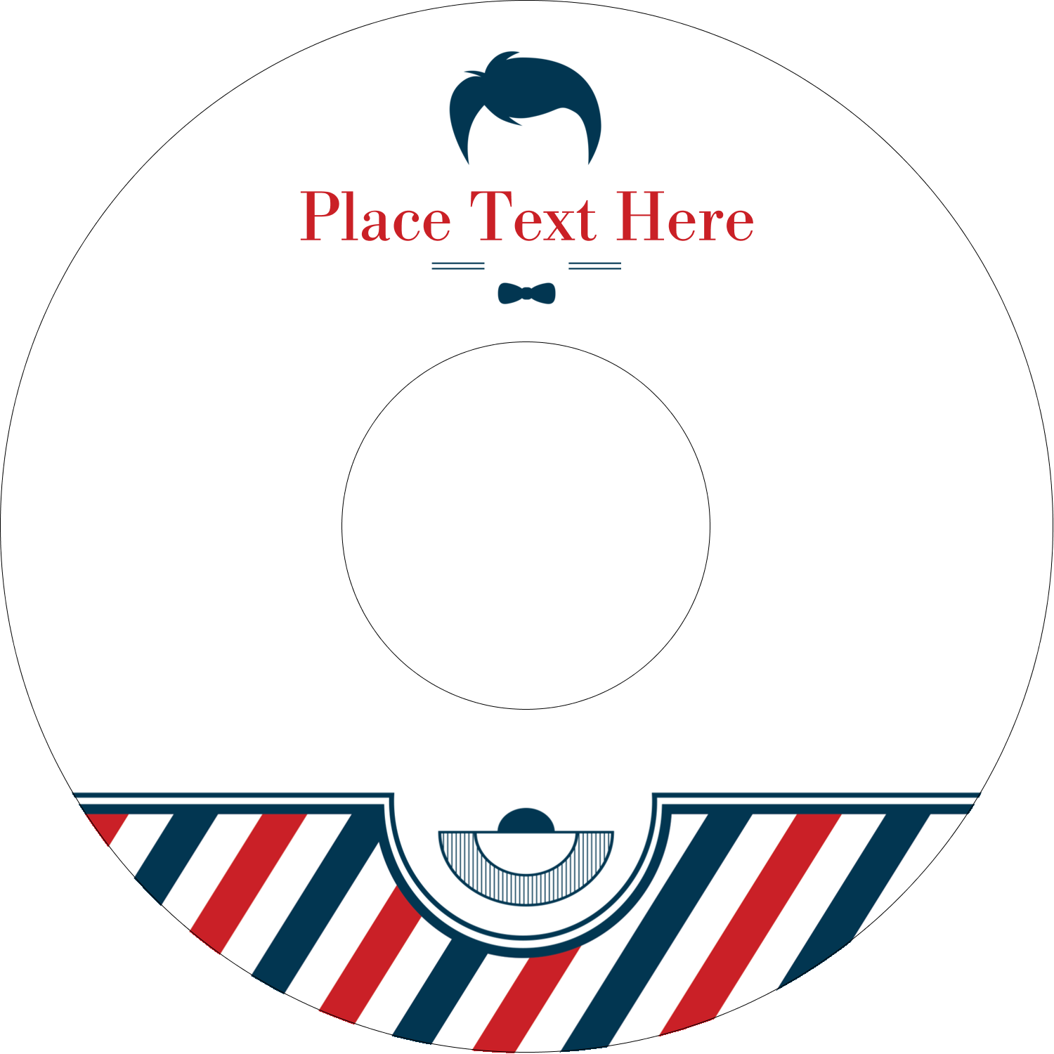 "4.65"" CD-DVD Label - Barber Shop"